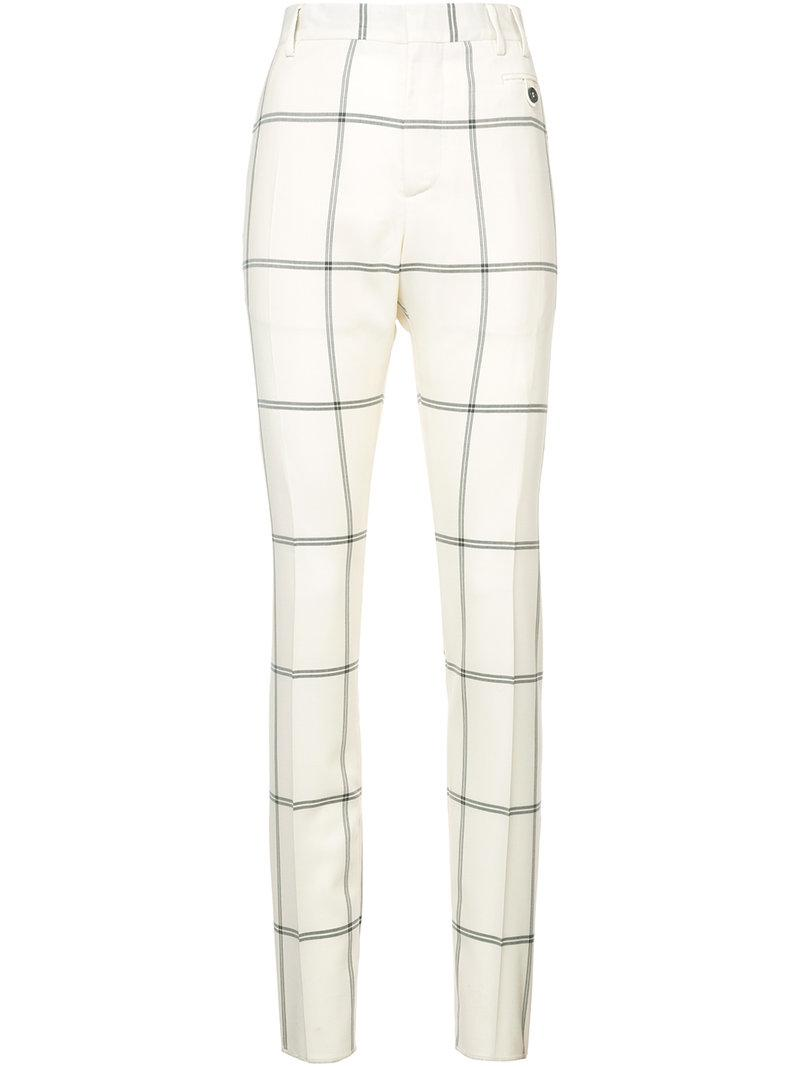 Vivienne Westwood Check Tailored Trousers