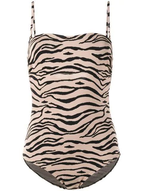 Prism Bathsheba Tiger One-piece Swimsuit - Brown