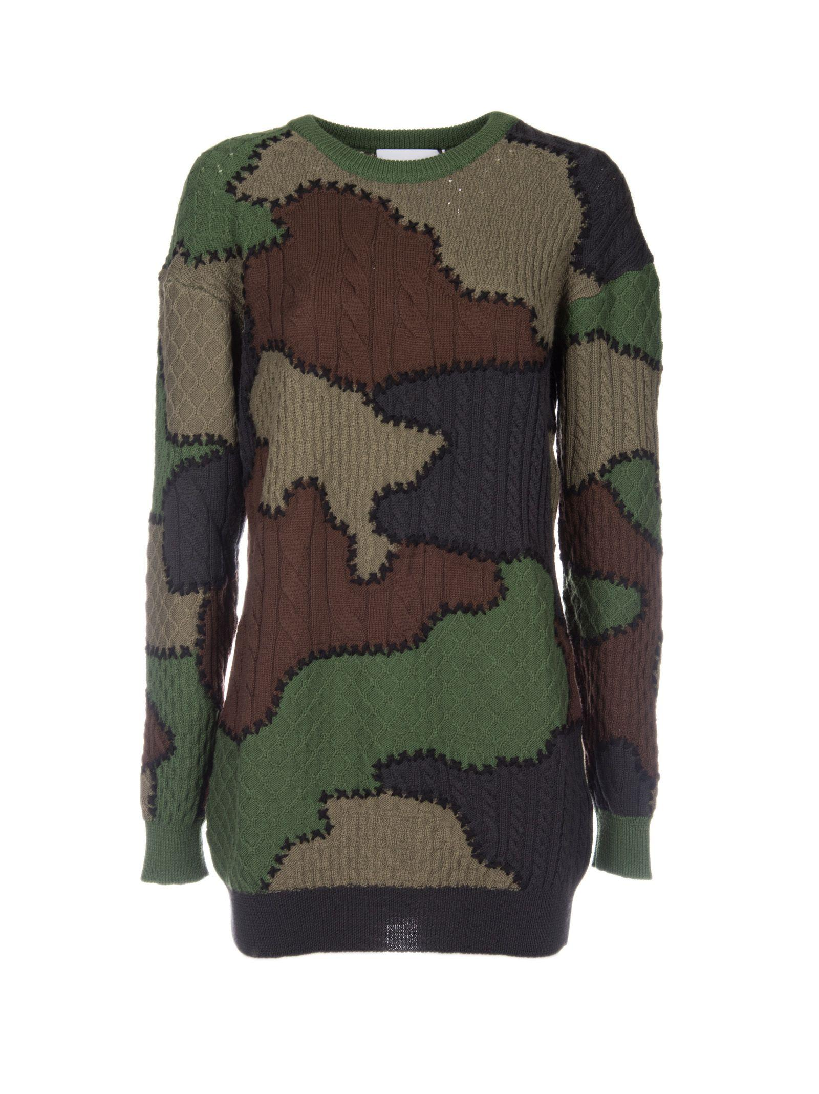 Moschino Knitted Patchwork Dress