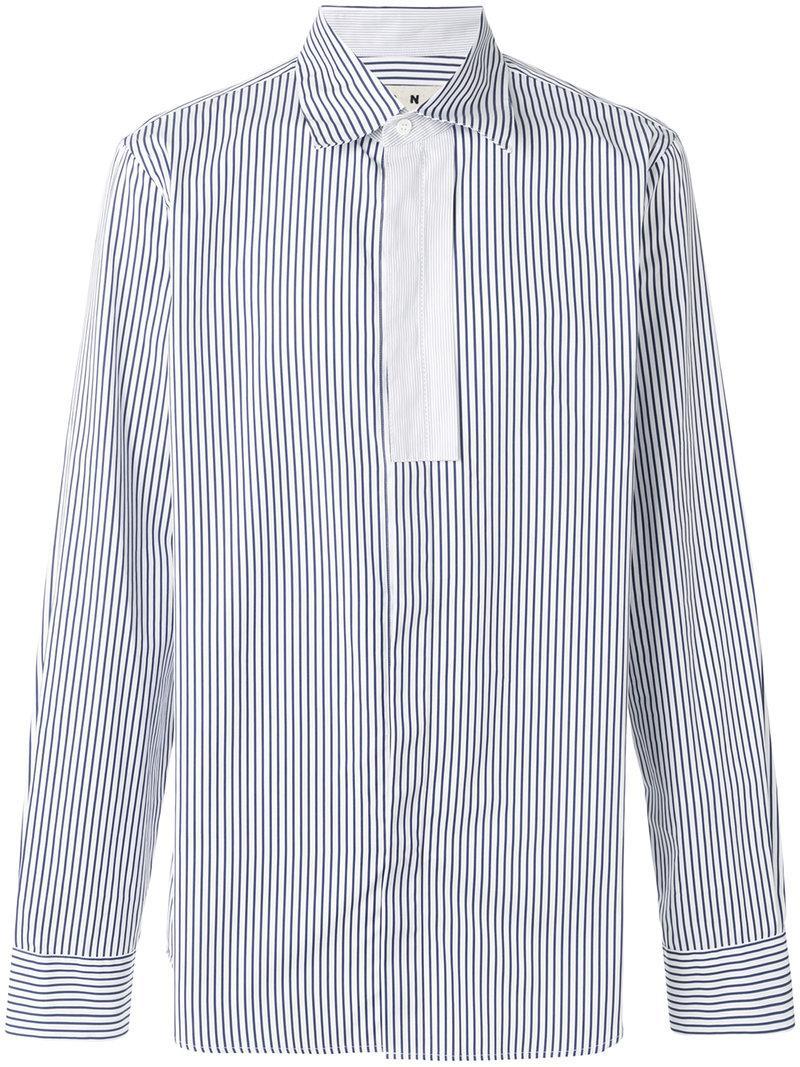 Marni Pinstriped Placket Shirt