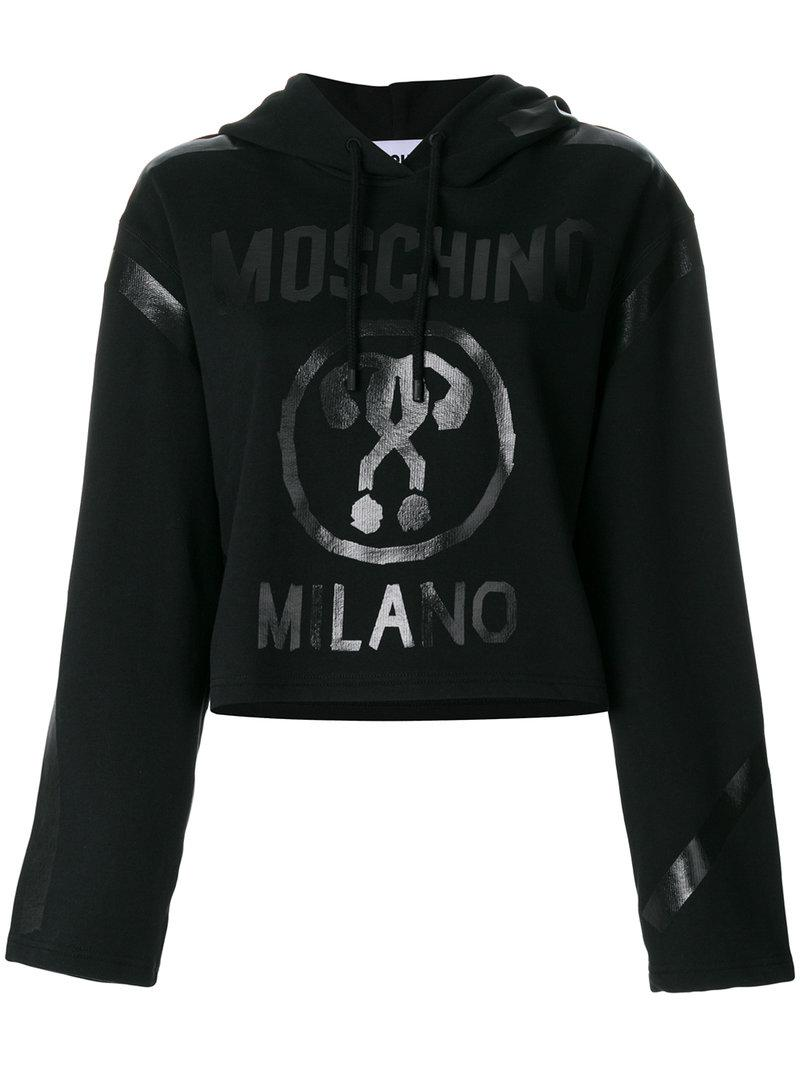 Moschino Question Mark Vinyl Motif Hoodie