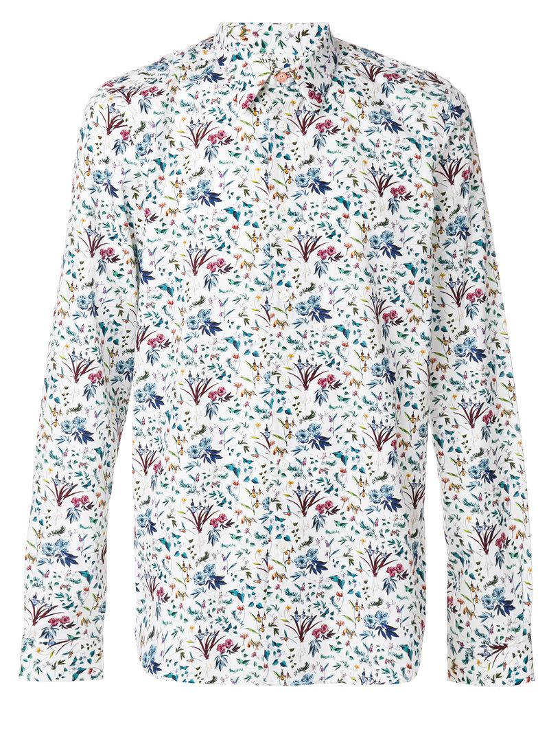 Ps By Paul Smith Floral Print Shirt In Multicolor