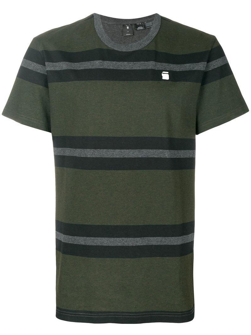 G-star Striped Logo Detail T-shirt