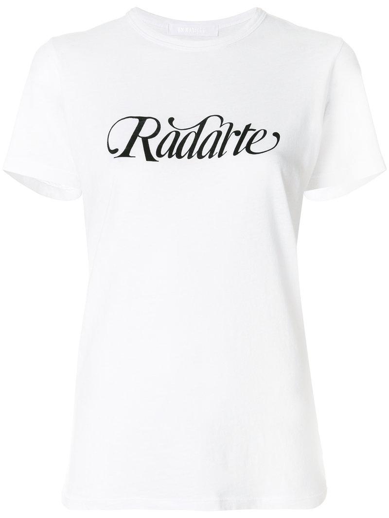 Rodarte Logo-print T-shirt In White