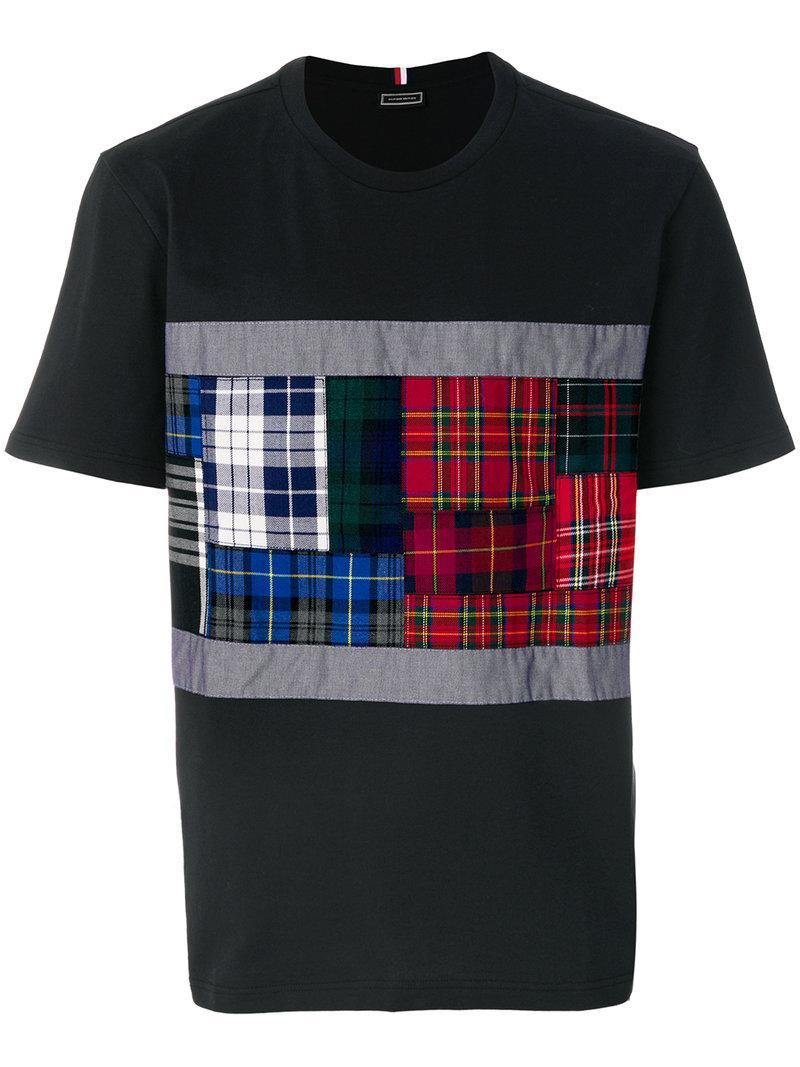 Tommy Hilfiger Tartan Panel T-shirt - Black