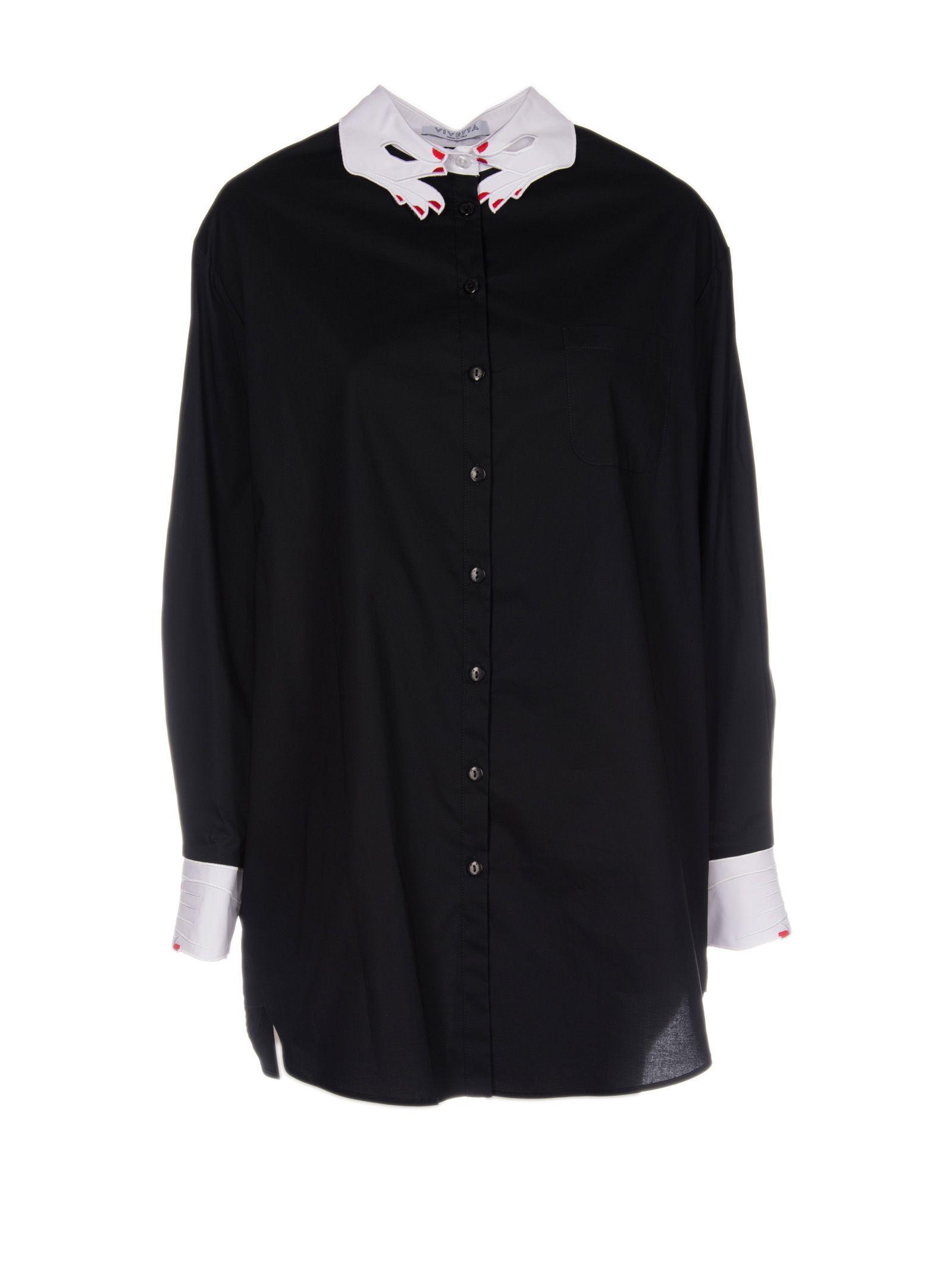 Vivetta Albert Town Shirt In Black