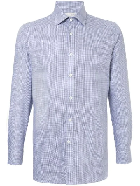 Gieves & Hawkes Checked Shirt In Blue