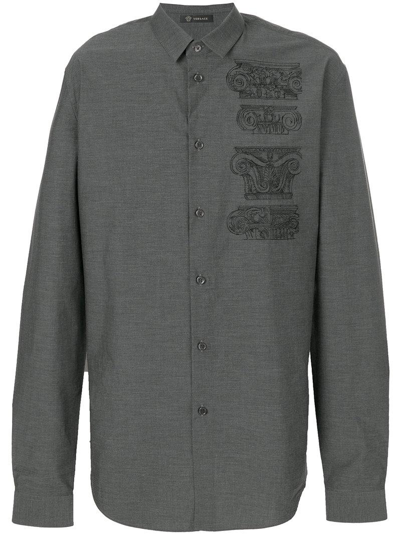 Versace Embroidered Capitelli Shirt