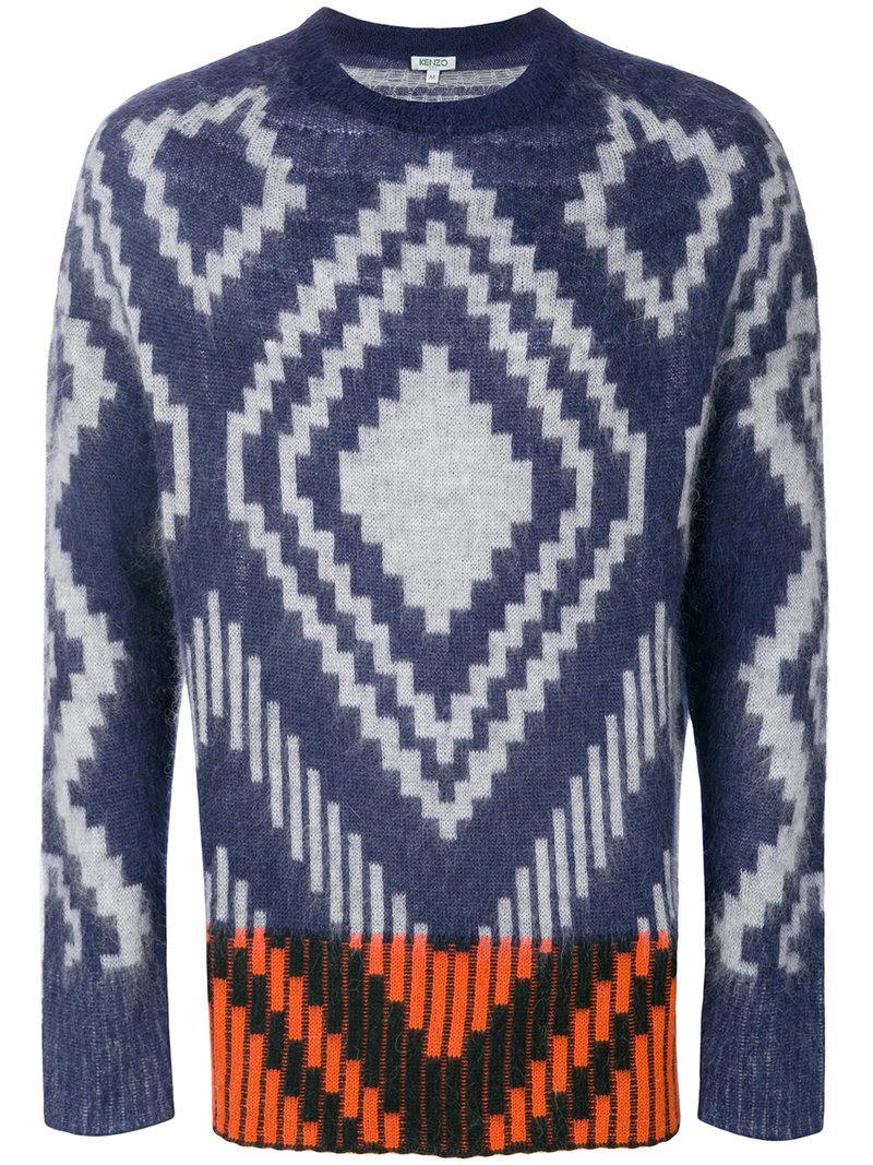 Kenzo Jacquard Sweater - Blue