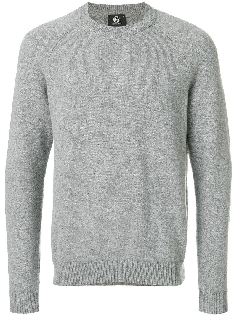 Ps By Paul Smith Long Sleeved Sweatshirt In Grey