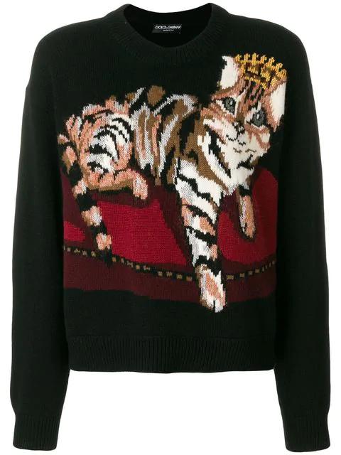 Dolce & Gabbana Embroidered Jumper - Black