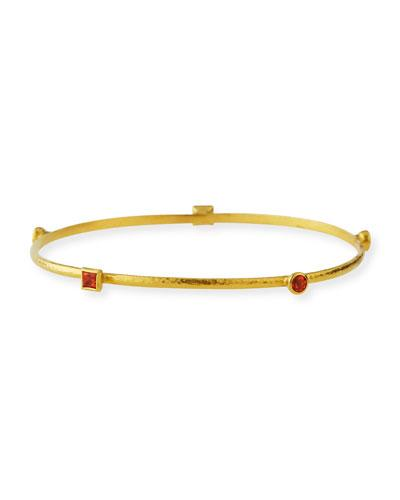 Gurhan 24k Skittle Topaz Bangle Bracelet