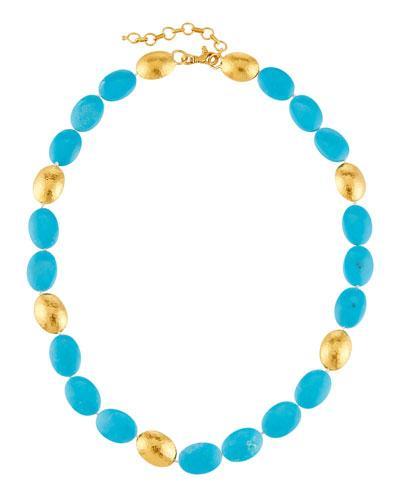 Gurhan Jordan 24k Turquoise Beaded Necklace