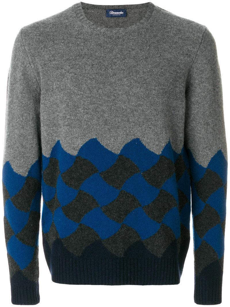 Drumohr Classic Block Colour Sweater