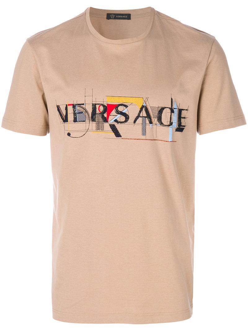 Versace Abstract Print T-shirt