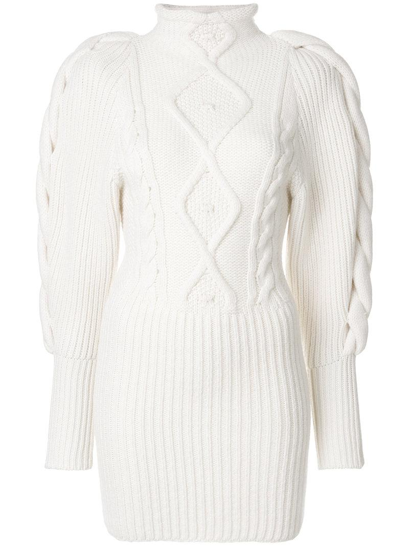 Alexandre Vauthier Cable Knit Turtleneck Sweater
