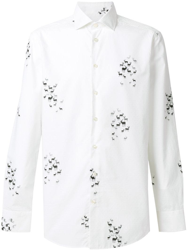 Etro Long Sleeved Printed Shirt