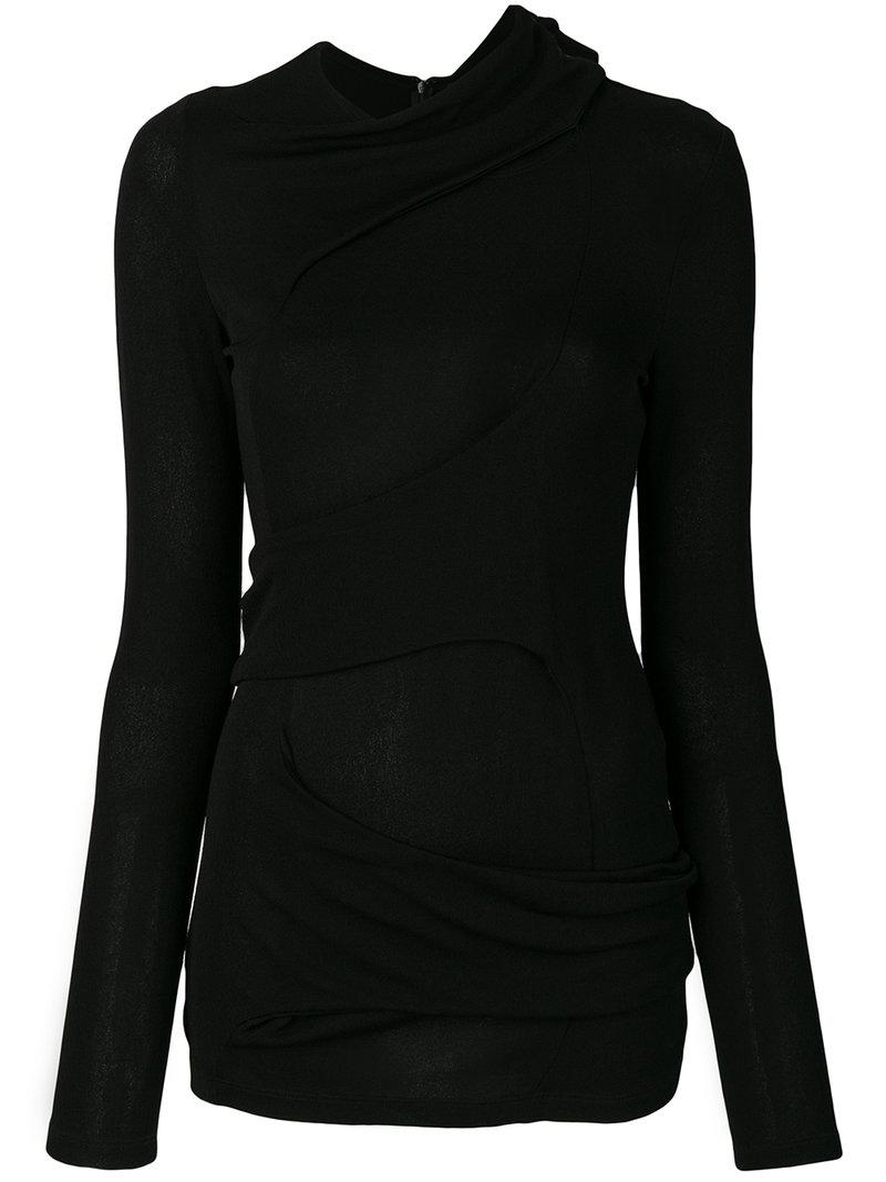 Proenza Schouler Fold Detail Top In Black
