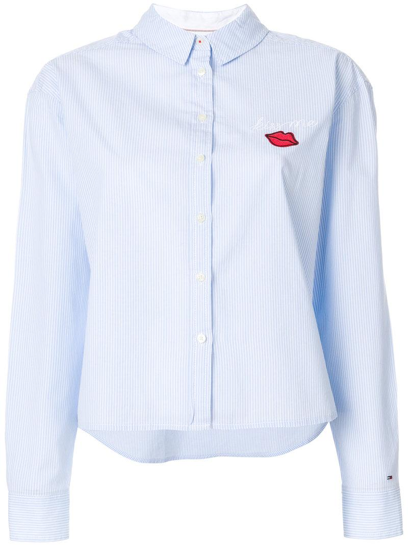 Tommy Hilfiger Embroidered Fitted Shirt