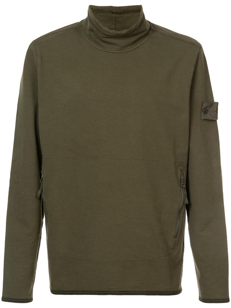 Stone Island Turtle-neck Sweatshirt