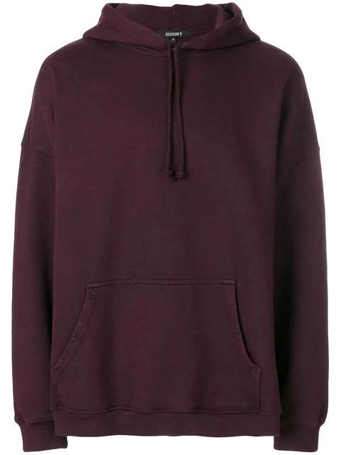 d827ef32 Yeezy Season 5 Oversized Cotton-Jersey Hoody In 100