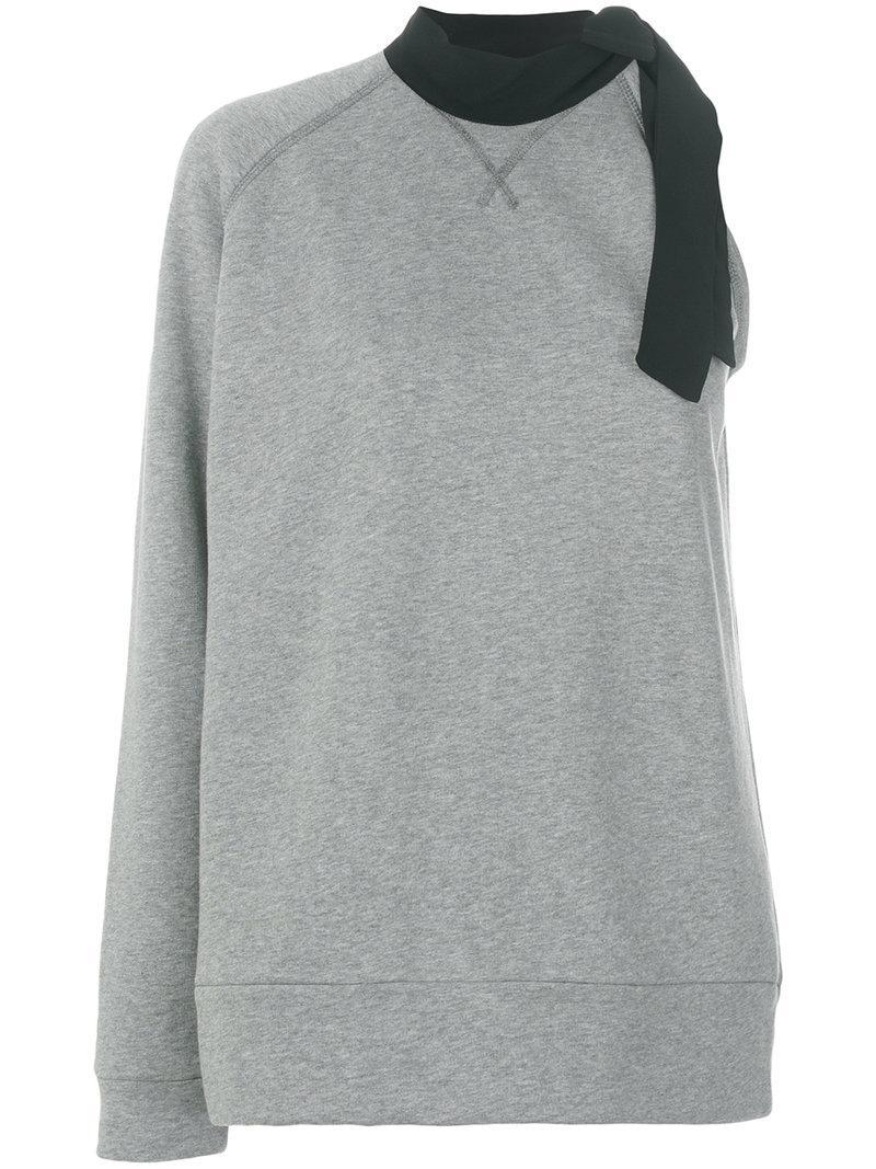 N°21 Asymmetric Neck Tie Sweatshirt