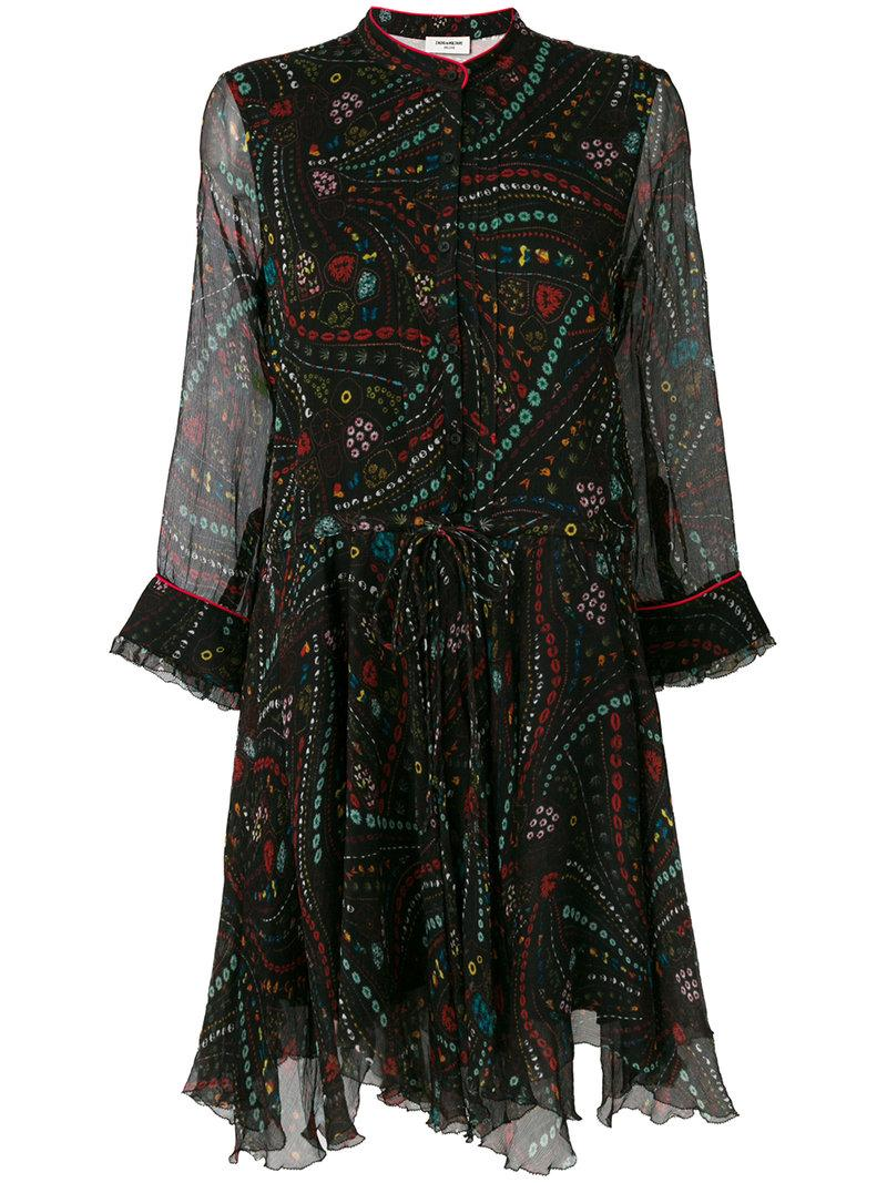 Zadig & Voltaire Embroidered Flared Dress