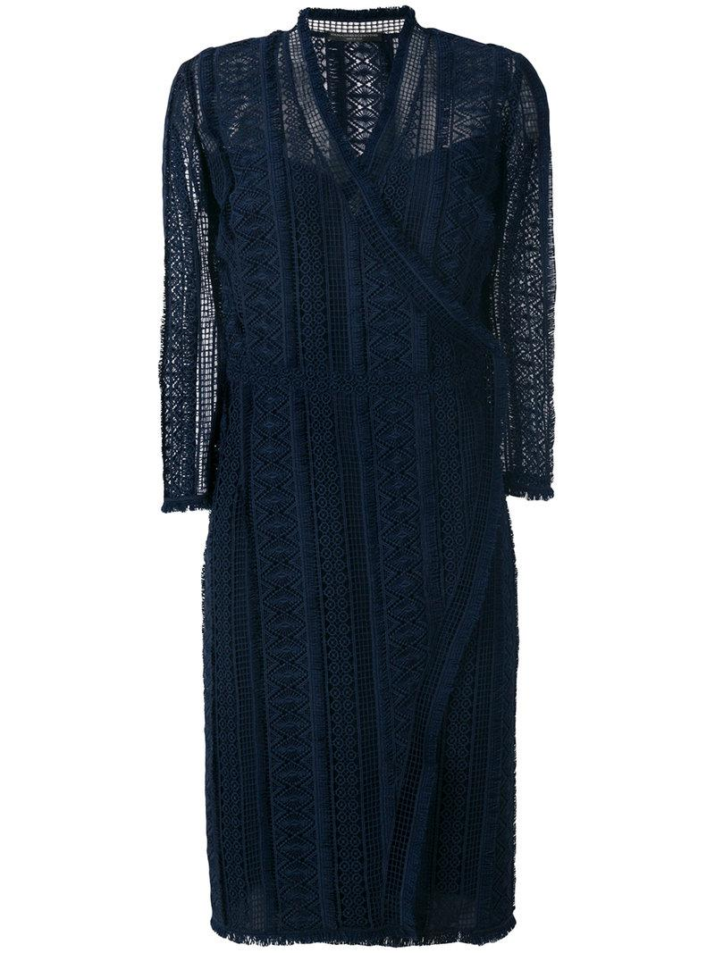 Ermanno Scervino Crocheted Wrap Style Dress
