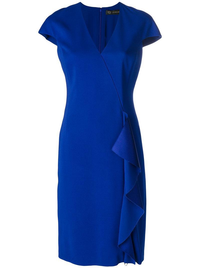 Versace Ruffle-trimmed Dress