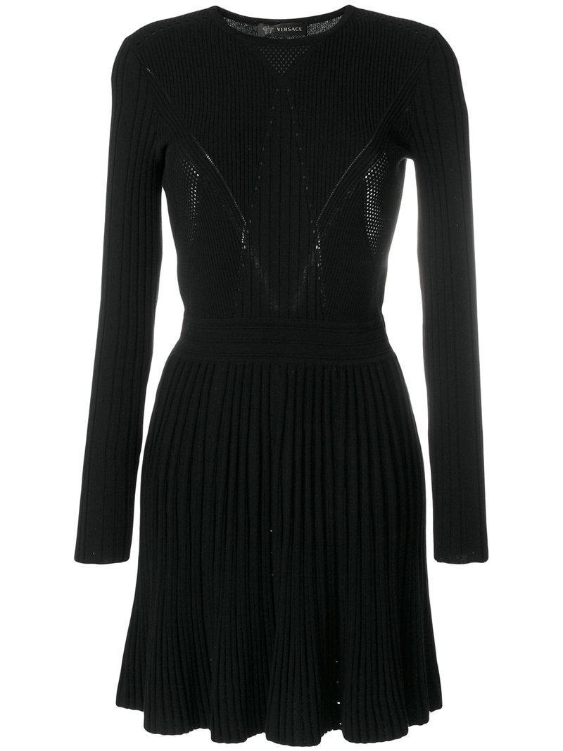 Versace Ribbed Knit Dress