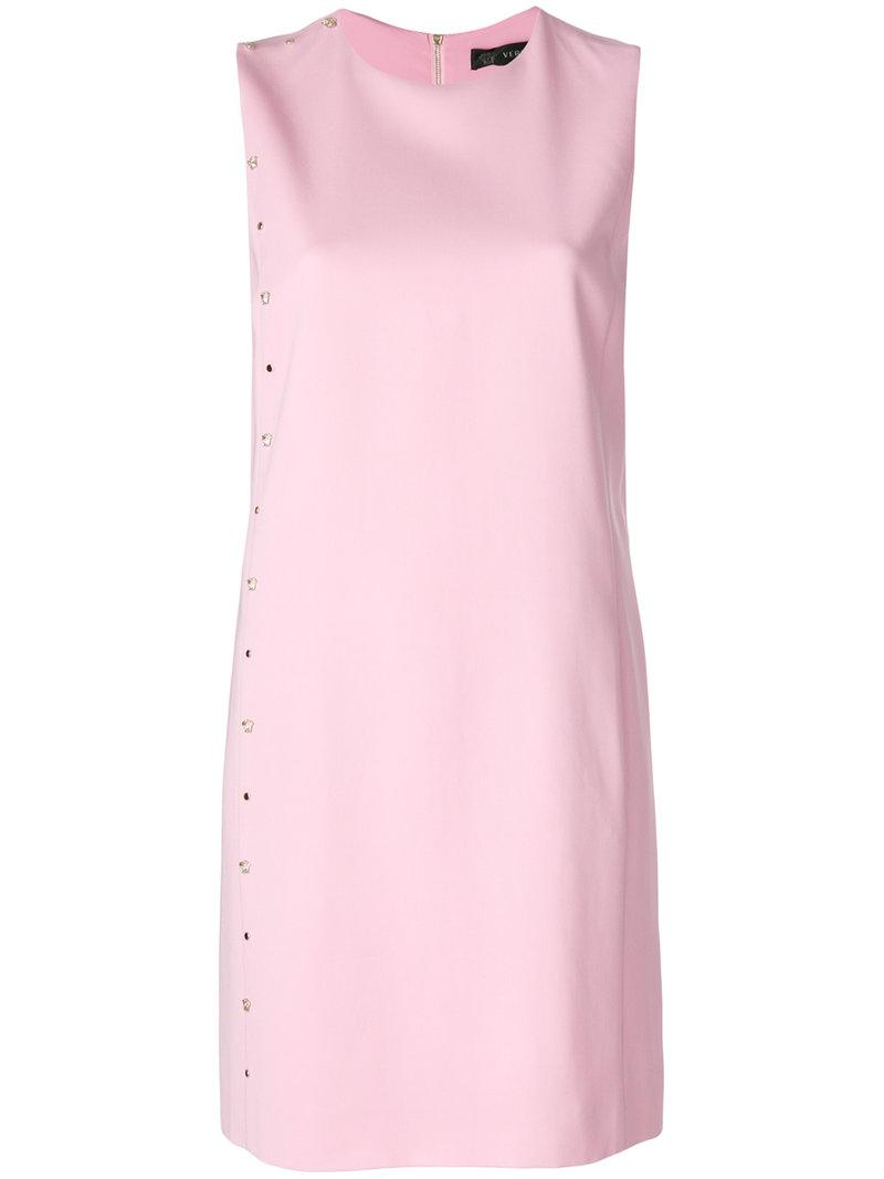 Versace Stud Medusa Cady Dress