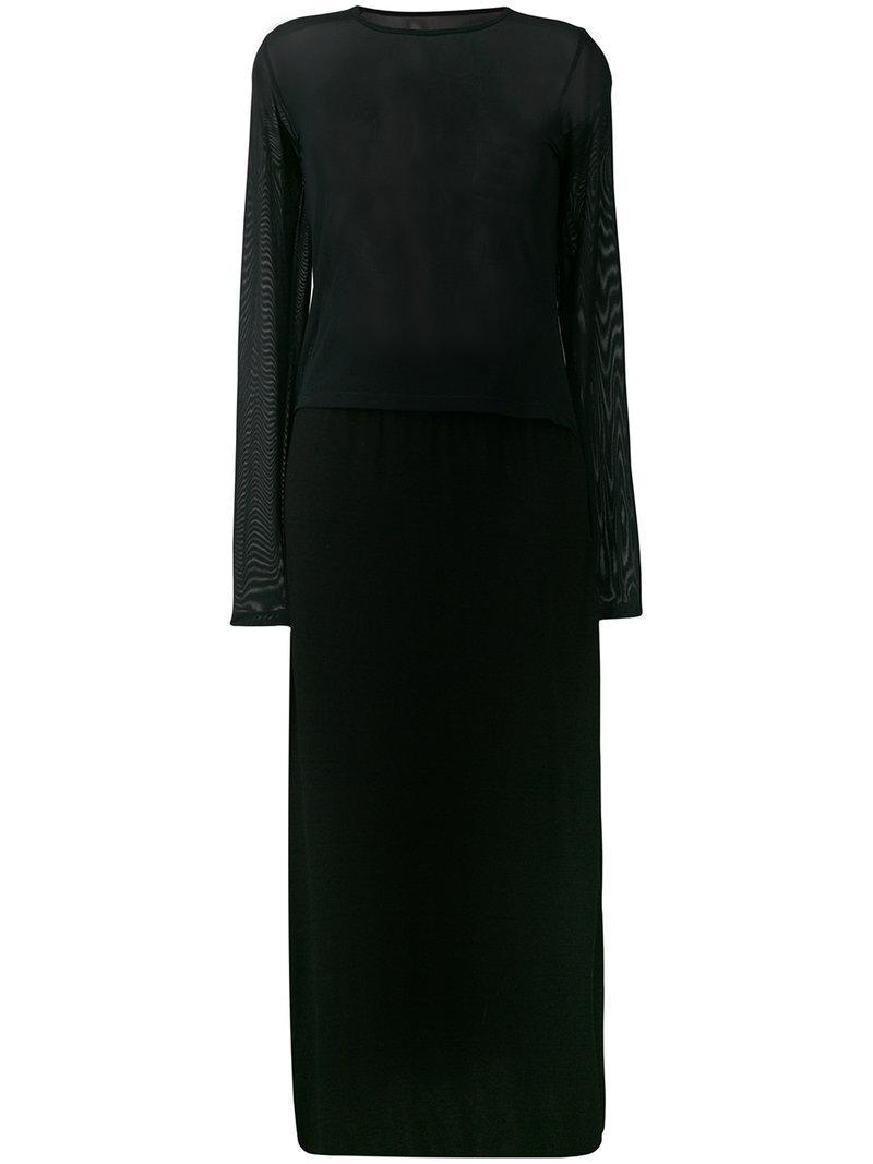 Mm6 Maison Margiela Mesh Panel Dress