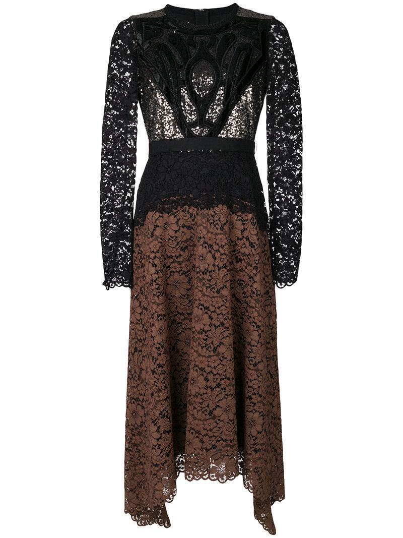 Antonio Marras Lace Detail Contrast Dress
