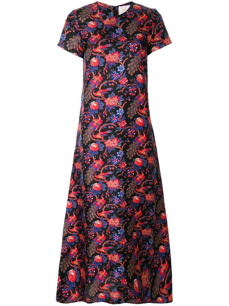 La Doublej Pavone Nero Swing Dress - Black