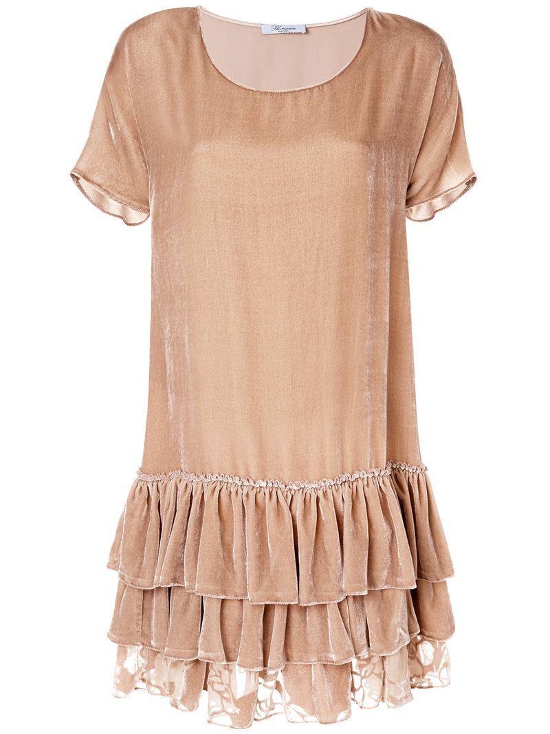 Blumarine Wide Cut Dress - Neutrals