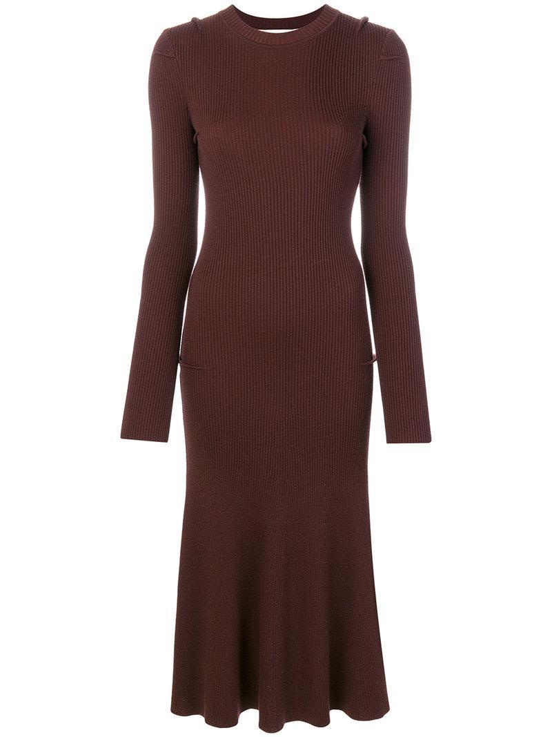 Victoria Beckham Ribbed Dress