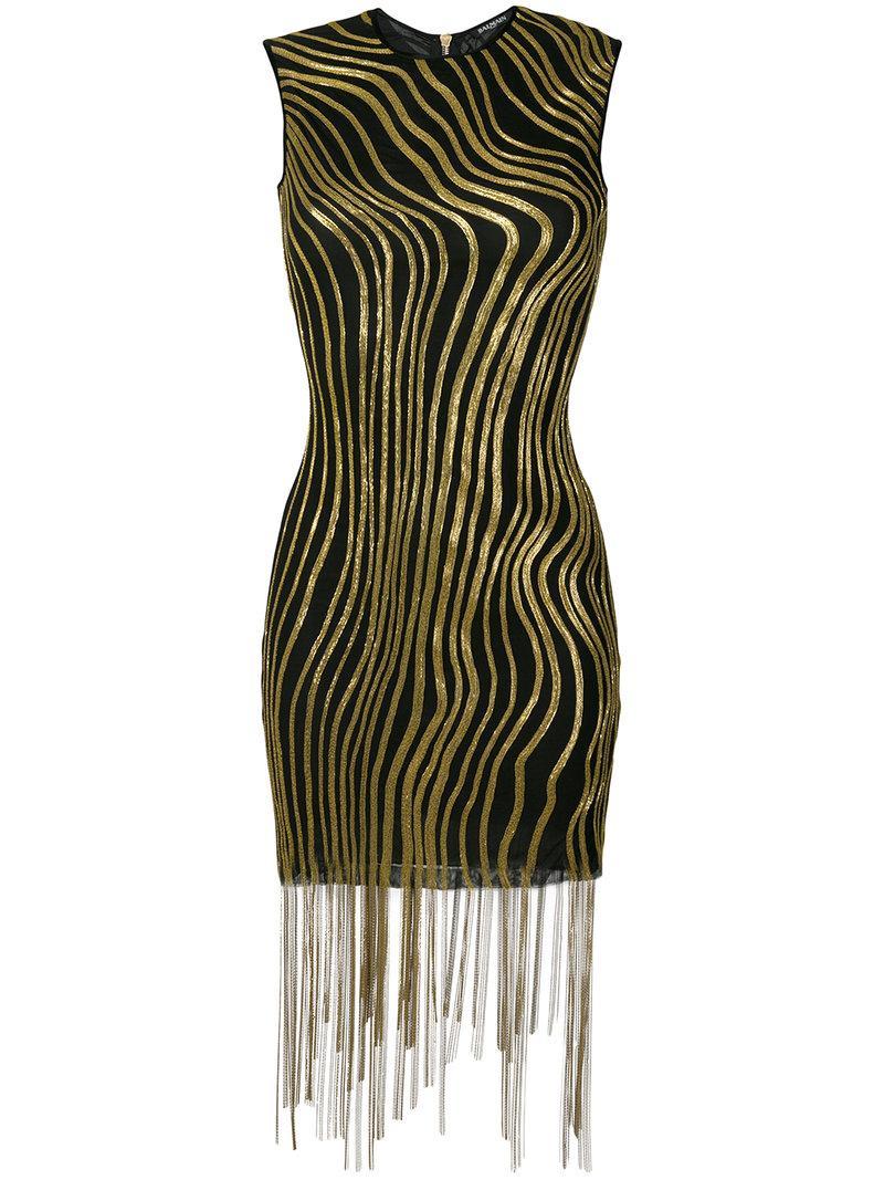 Balmain Bead-embellished Mini Dress