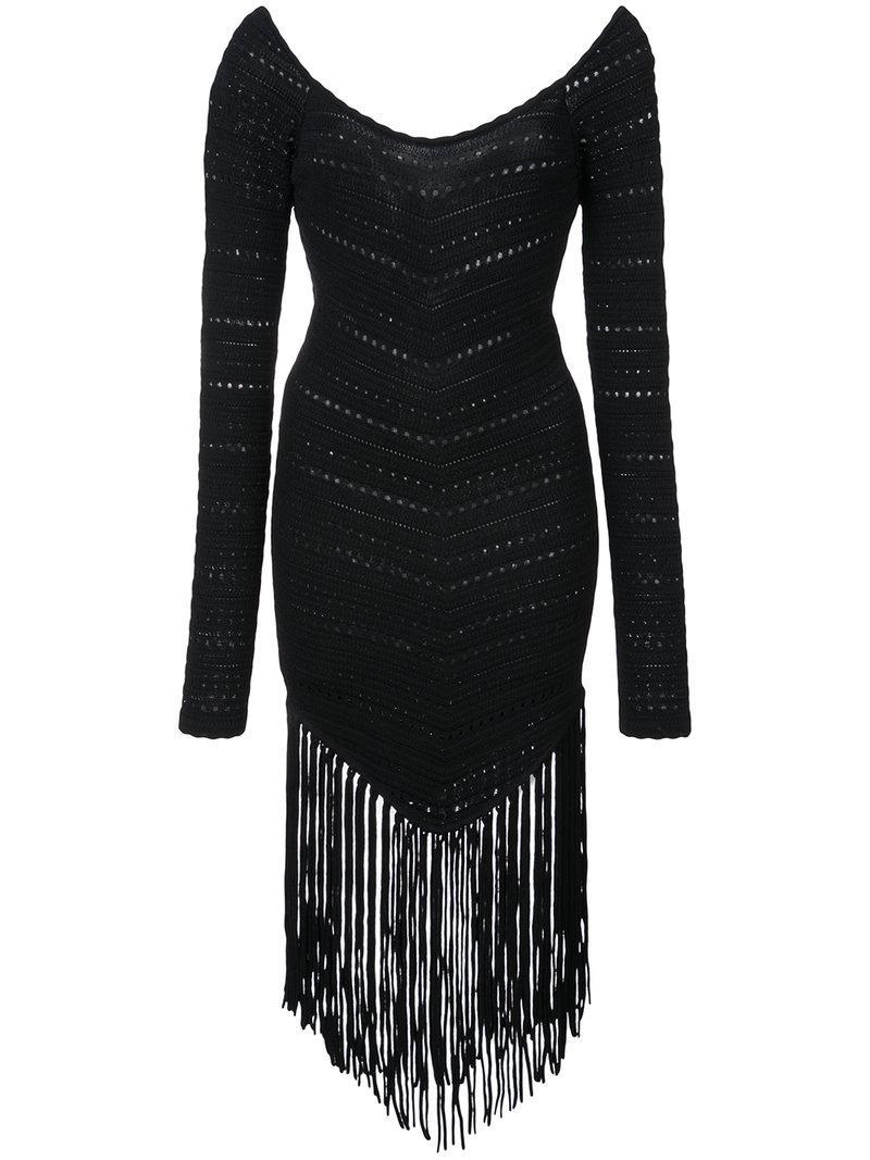 Ronny Kobo Fringed Dress