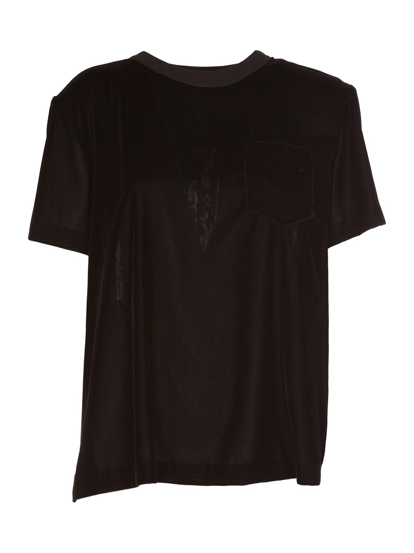 Sacai Iridescent Chiffon Panel T-shirt