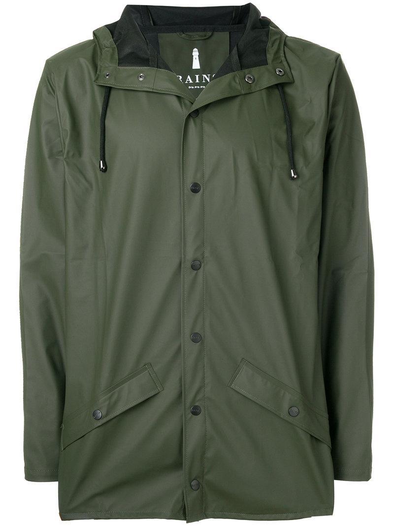 Rains Classic Raincoat In Green