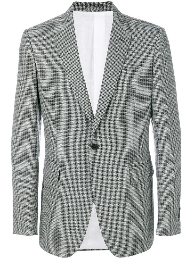 Calvin Klein Single-breasted Blazer In Grey