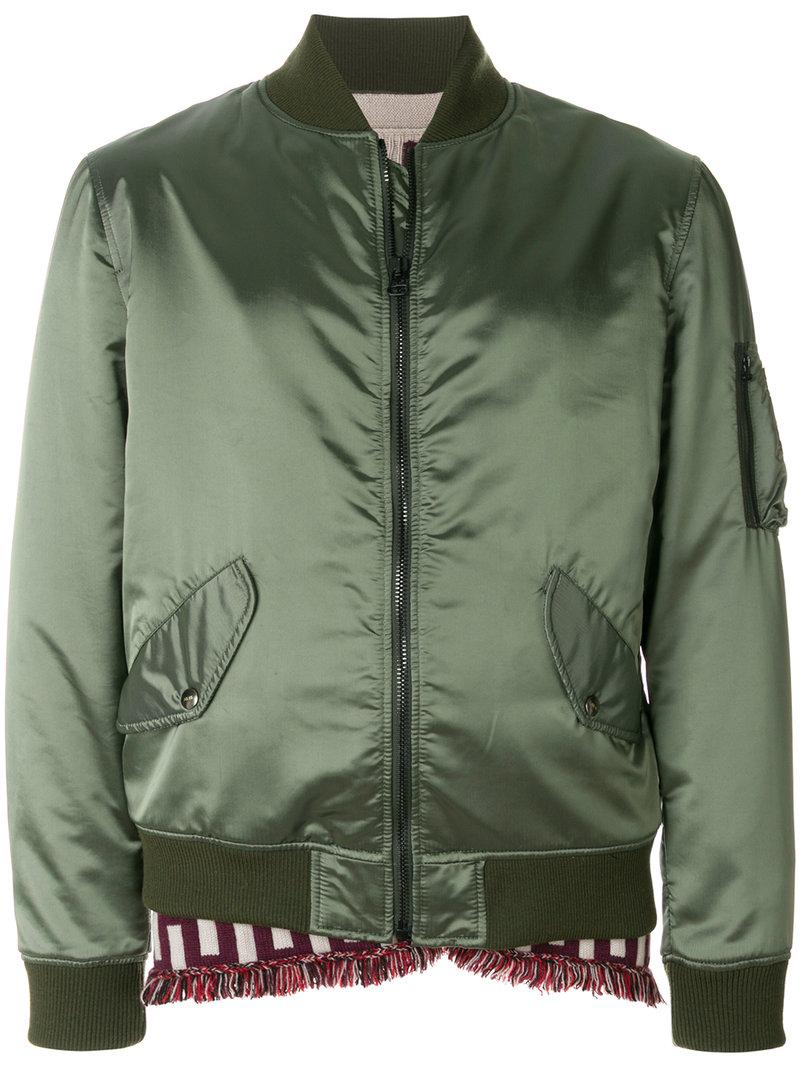 As65 Bomber Jacket In Green