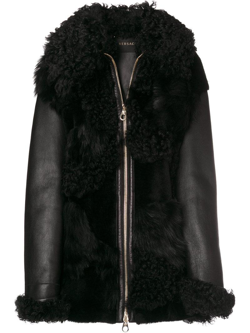 Versace Shearling Leather Jacket