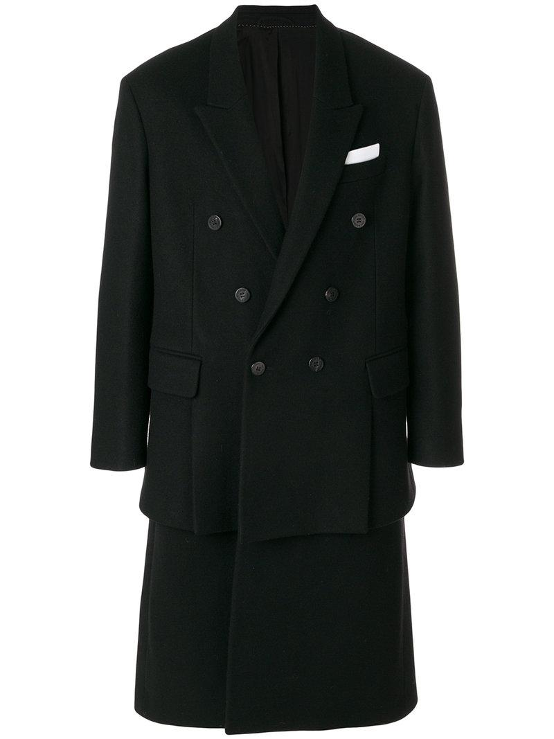 Neil Barrett Layered Double-breasted Coat