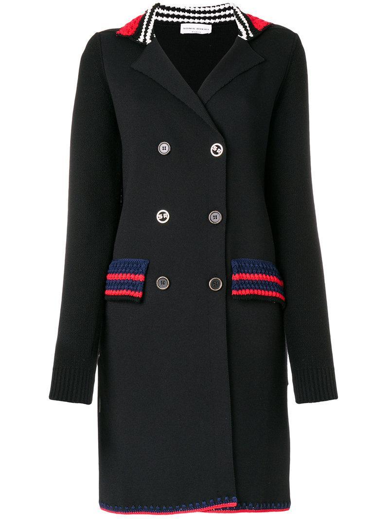 Sonia Rykiel Double-breasted Stripe Detail Coat