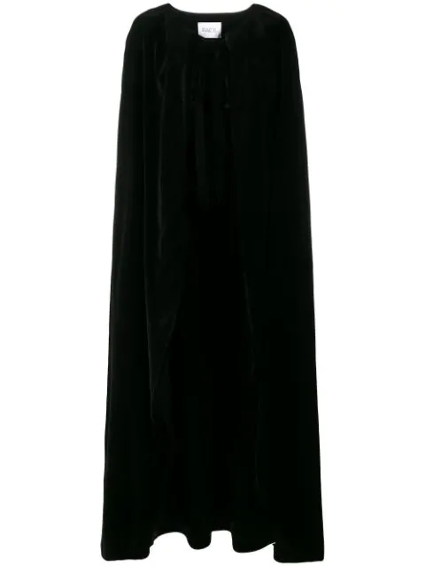 Racil Full Length Velvet Cape In Black