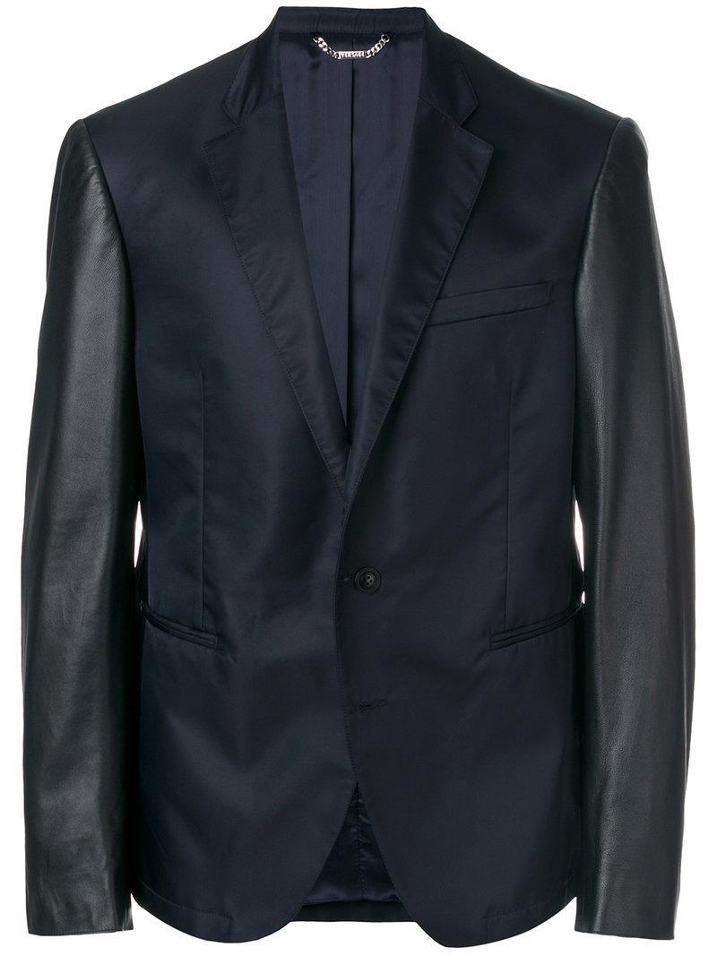 Versace Contrast Sleeve Blazer