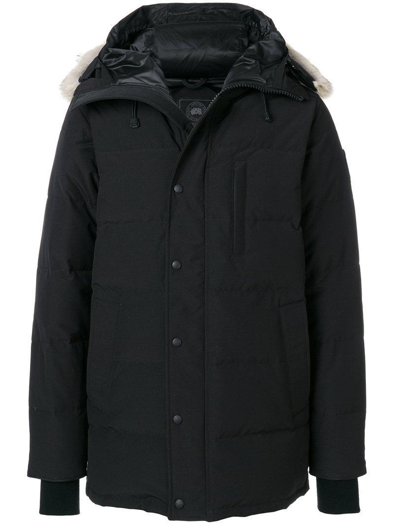 Canada Goose Black 'black Label' Down & Fur Carson Parka