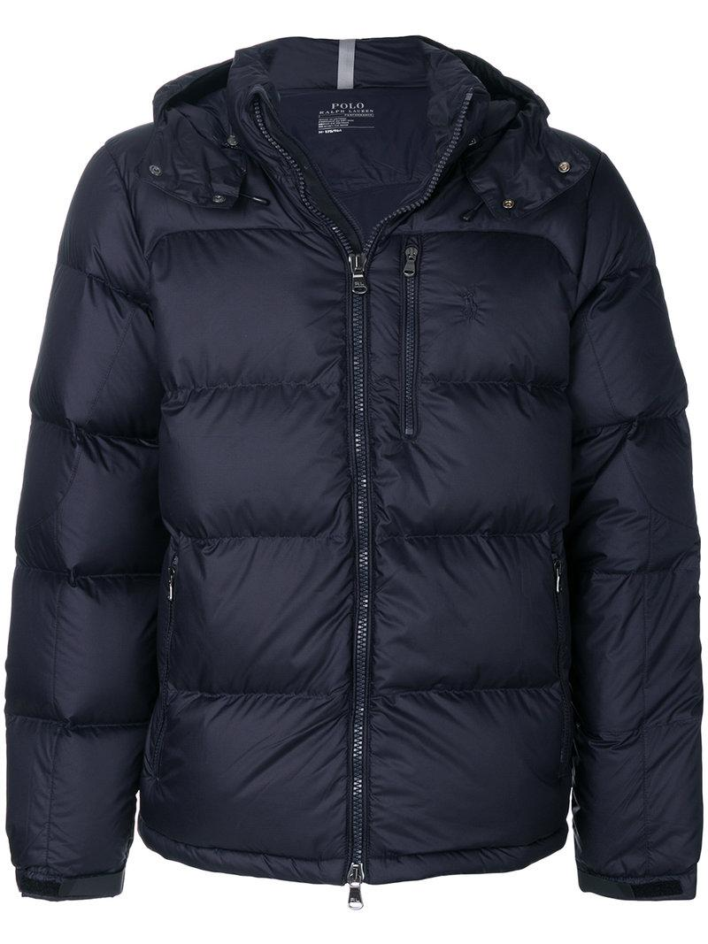 Polo Ralph Lauren Quilted Down Jacket In Blue