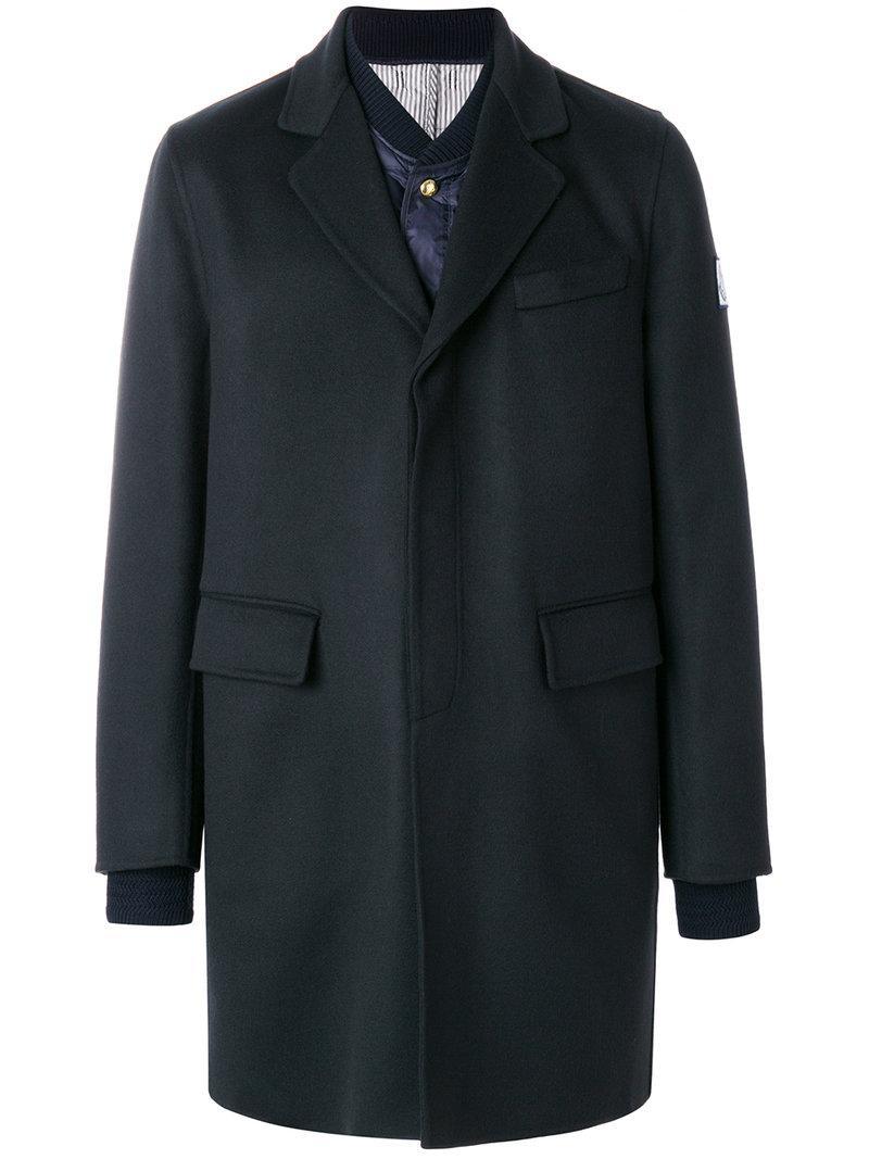 Moncler Gamme Bleu Padded Blazer Coat
